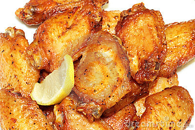 Chicken wings barbequed