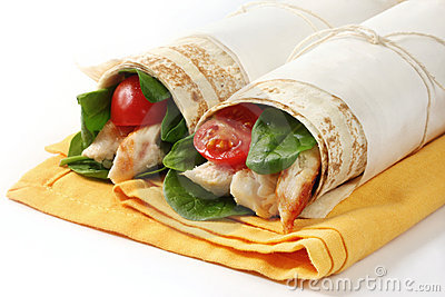 Chicken Wrap Sandwiches