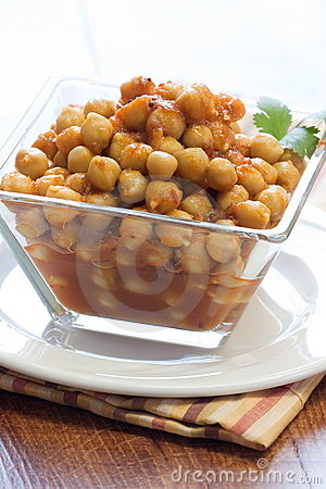 Chickpeas Curry - Indian style.