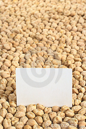 Free Chickpeas With Blank Card Royalty Free Stock Photography - 19970167