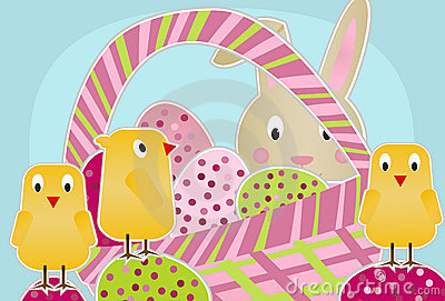 Chicks, Bunny and Eggs