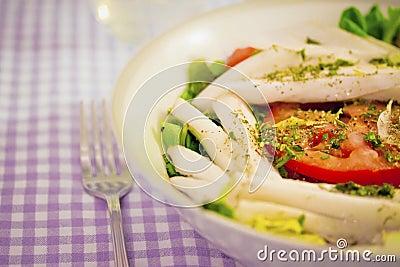 Chicory tomato salad