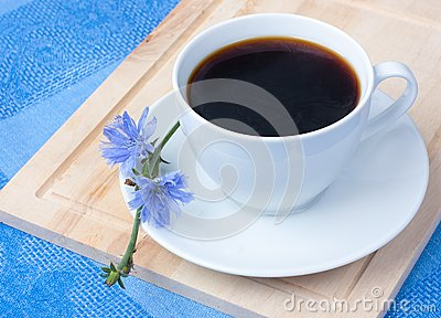 Chicory in white cup
