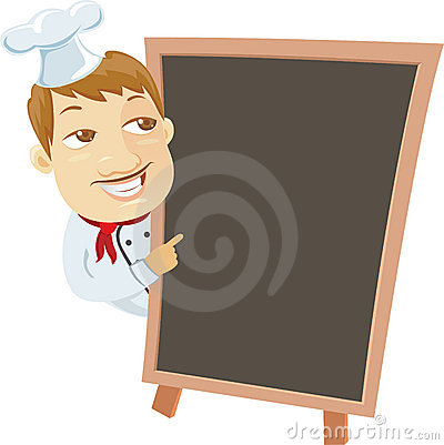 Free Chief And Menu Blackboard Stock Photography - 21277862