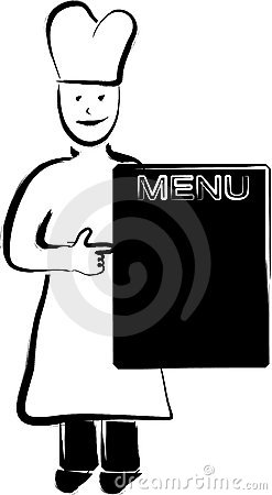 Chief cook and menu panel