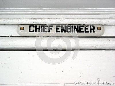 Chief engineer ship
