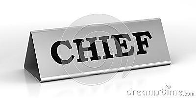 Chief identification plate