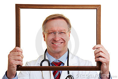 Chief physician in a frame