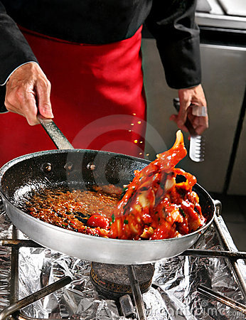 Free Chief Shaking Food Royalty Free Stock Image - 9521636