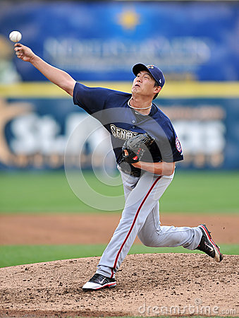 Chien-Ming Wang - Washington Nationals Pitcher Editorial Photo