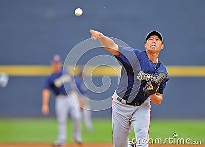 Chien-Ming Wang - Washington Nationals Pitcher Editorial Stock Photo
