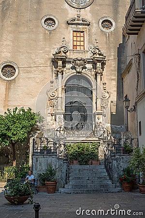 Chiesa del Purgatorio church. Cefalu, Sicily. Editorial Stock Photo