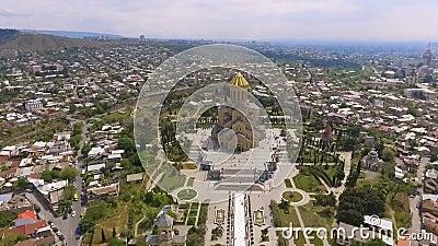 Chiesa di trinità santa a Tbilisi, monumento architettonico, attrazioni turistiche stock footage