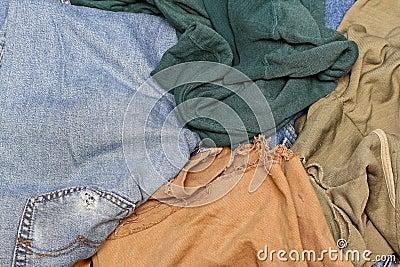 Chiffons de tissu
