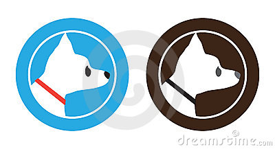 Chihuahua Dog Badge Symbol Logo Design