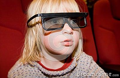 Child 3d virtual film cinema