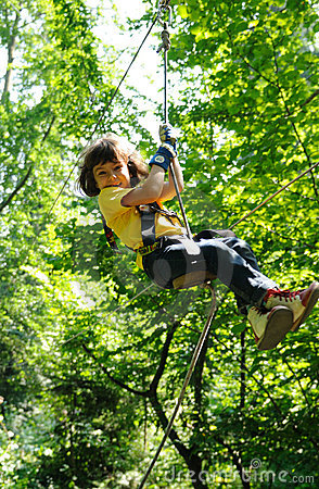 Child In Adventure Park Royalty Free Stock Images - Image: 11453529