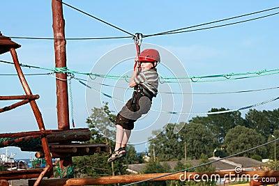 Child  in adventure playground