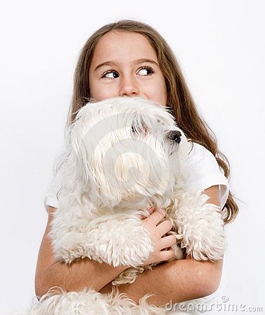 Free Child And Dog Royalty Free Stock Photography - 17566417