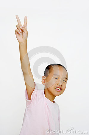 Free Child And  Two Fingers Royalty Free Stock Photo - 25939965
