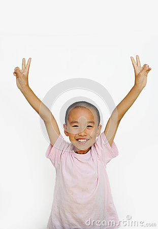 Free Child And  Two Fingers Royalty Free Stock Photography - 25939967