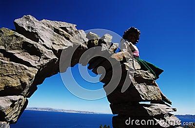 Child on arch
