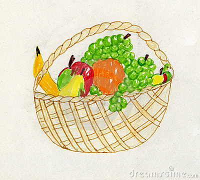 Child artwork - fruit still life