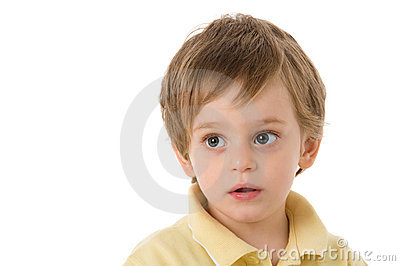 Child with astonished gaze