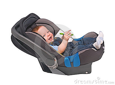 The child in an automobile armchair