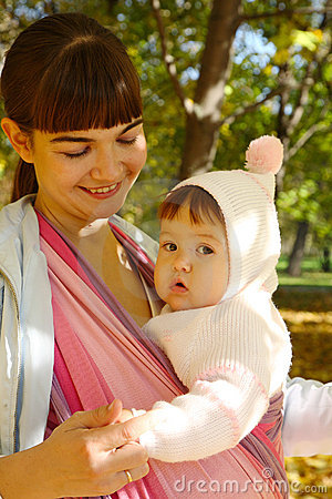 Child in a baby sling