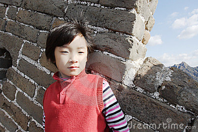 Child on Badaling great wall