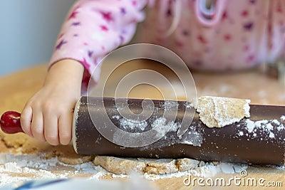 Bake cookies for Christmas Stock Photo