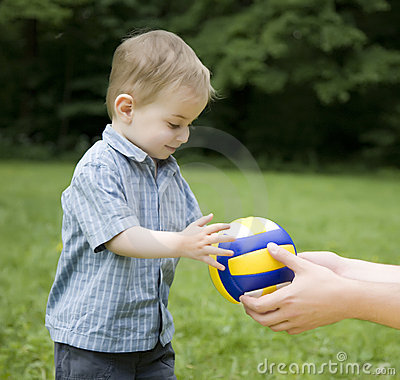 The Child And A Ball