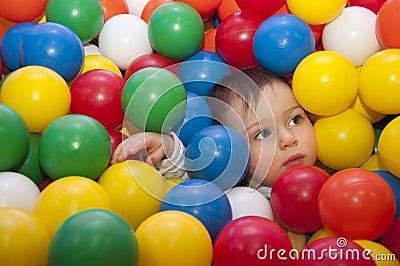 Child in balls