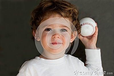 Child with baseball