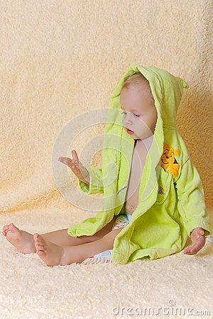 The child after bathing