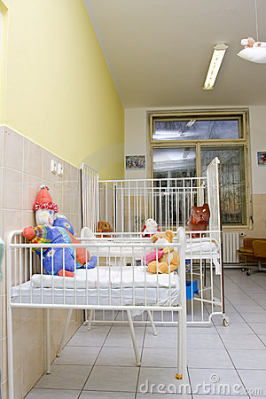 Child beds in the hospital room