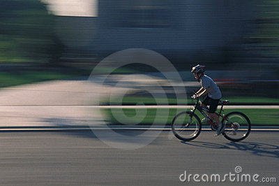 Child bicycling