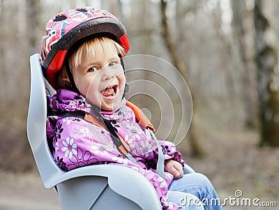 Child in bike seat