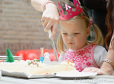 Child on birthday