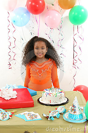 Child at birthday party