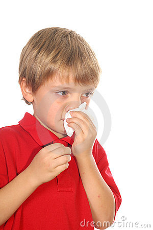 Free Child Blowing His Nose Royalty Free Stock Photos - 3625258