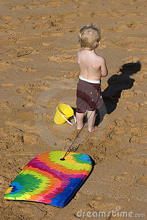 Child with Boogie Board