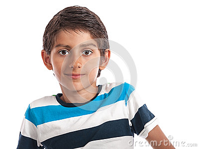 Child  boy portrait isolated white