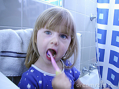 Child Brushing Teeth