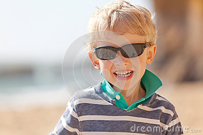 Child at californian beach