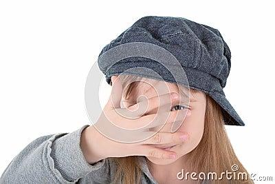 Child in cap
