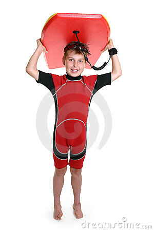 Free Child Carrying A Surfboard Royalty Free Stock Image - 1340426