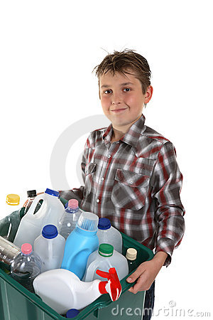 Free Child Carrying Recycling Stock Images - 3029604