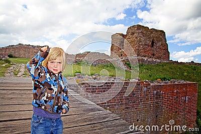 Child castle ruin tourism